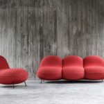 Baba Accent Chairs In Bold Red