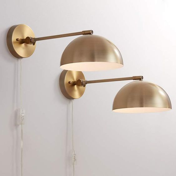 wall lamps in brass finish