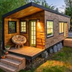 Tiny Cabin With Warm Lighting Egg Chair