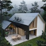 Two Storey House In Contemporary Design With Glass And Wood Exterior Materials