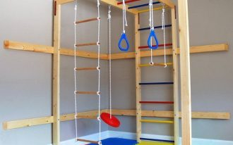 kids' playroom in the basement