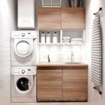 Modern Laundry Room In The Basement