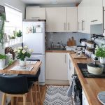Small Kitchen Design With Tribal Pattern Runner Breakfast Nook