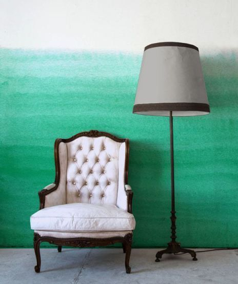 watercolor wall idea classic chair with tufted upholstery and carved wood frame classic floor lamp