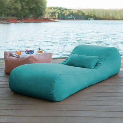 bag chaise lounge with cushion