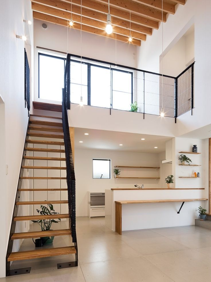 clean lines loft design dominated by whites