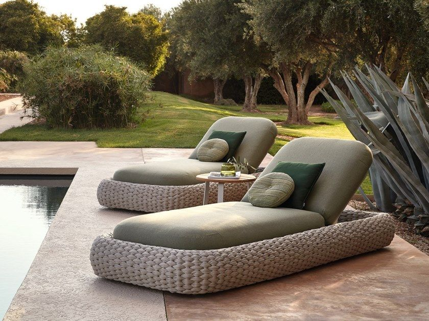 comfy chaise with headback and handwoven base