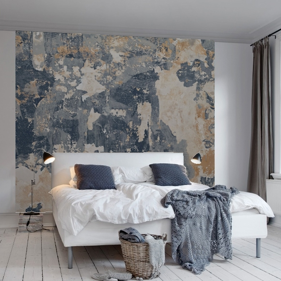 pigmented neutral wallpaper idea