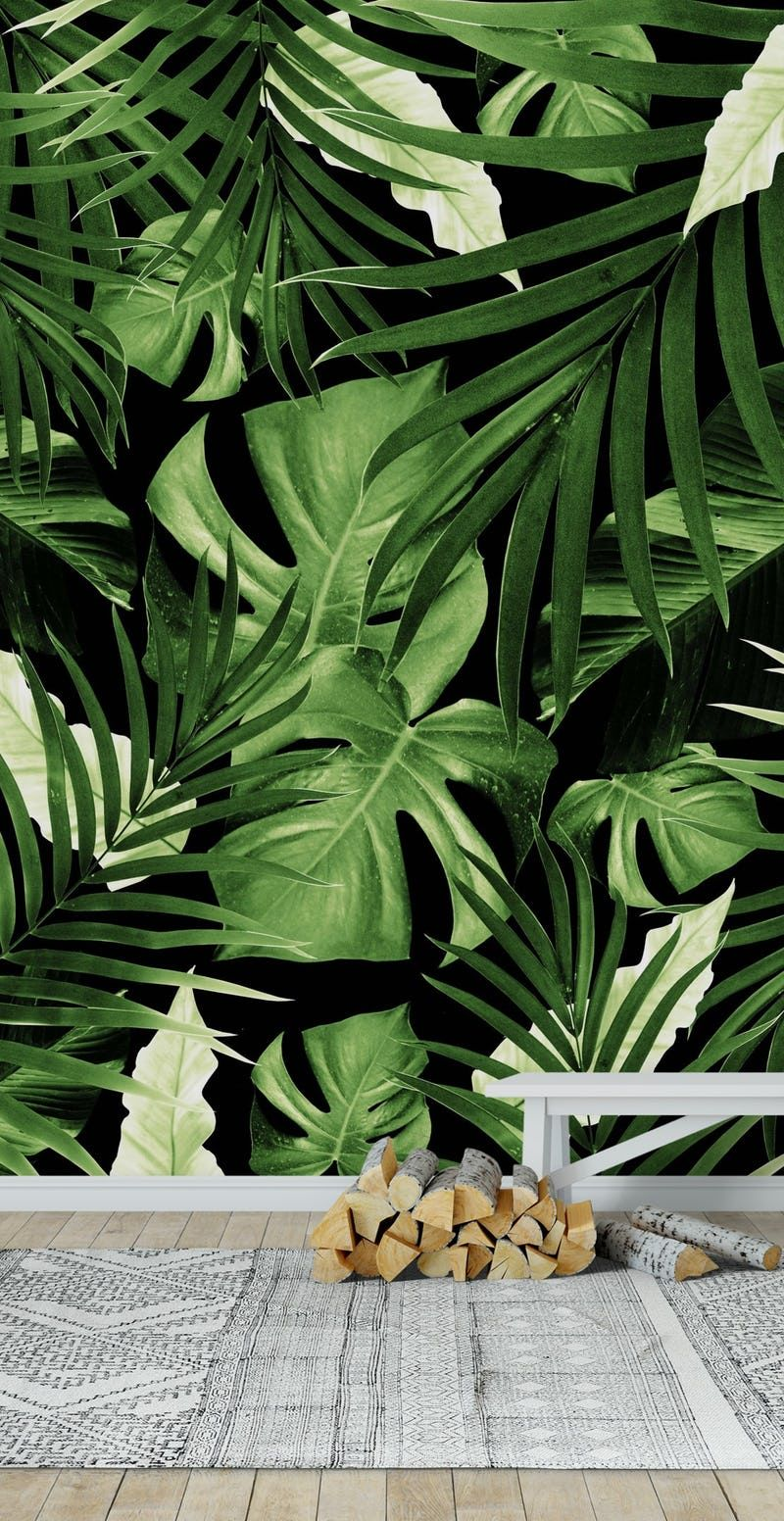 tropical jungle wallpaper idea