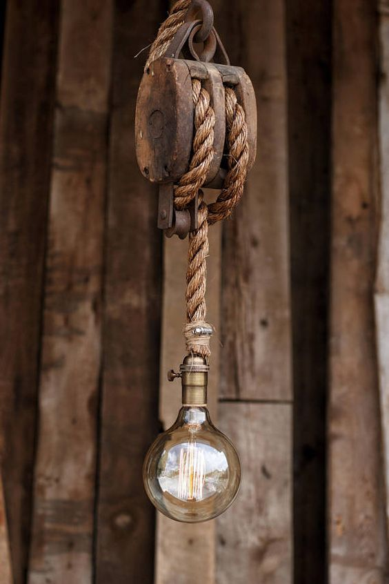 rustic pendant light fixture